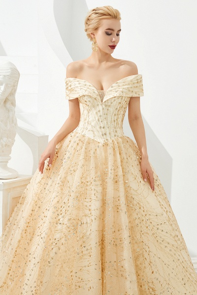 Attractive Off-the-shoulder Tulle Princess Prom Dress_8