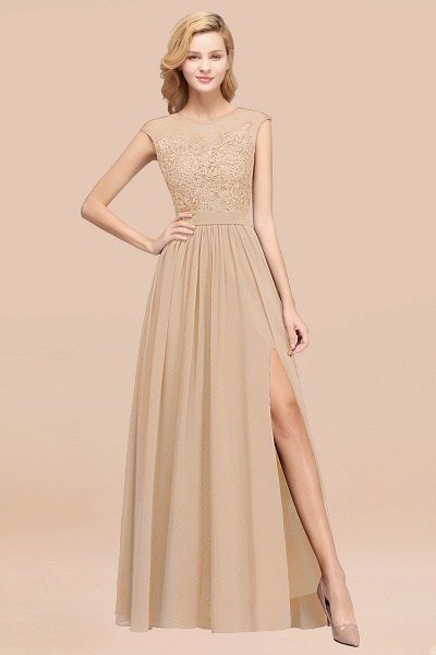A-line Chiffon Lace Jewel Sleeveless Floor-Length Bridesmaid Dresses with Appliques_14