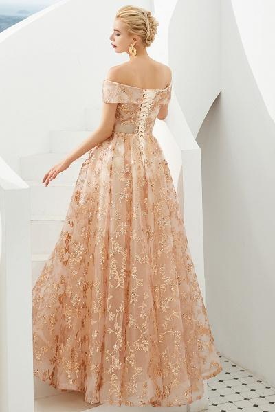 Graceful Off-the-shoulder Tulle A-line Prom Dress_7