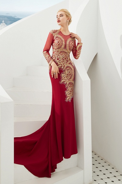 Attractive Jewel Tulle Mermaid Prom Dress_8