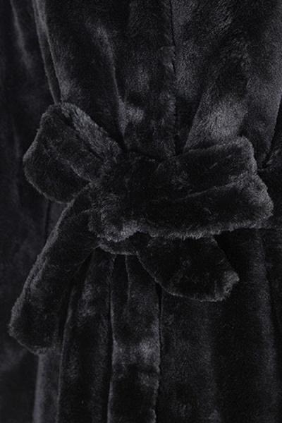 Women's Daily Street Hooded Long Faux Fur Coat_6