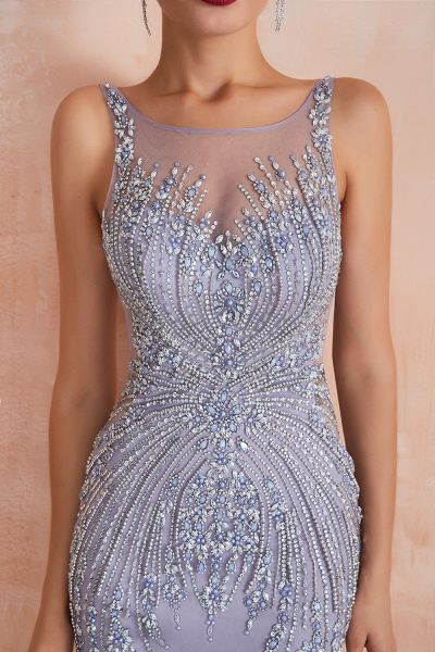 Graceful Jewel Tulle Mermaid Prom Dress_7