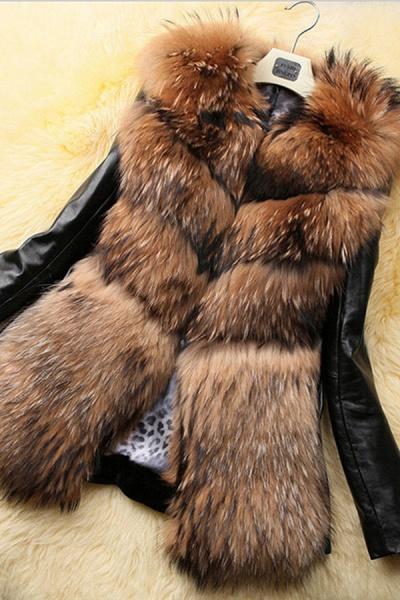 Women's Daily Basic Winter Faux Fur Coat_1