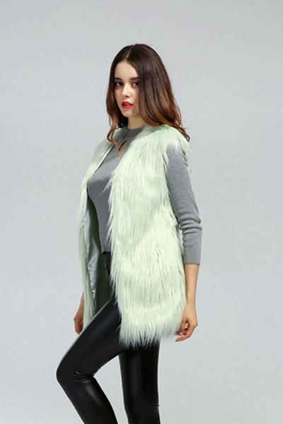 Women's Daily Fall & Winter Faux Fur Vest Coat_5