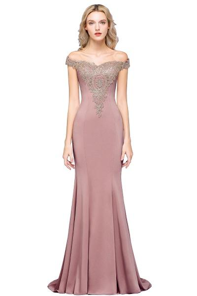 Elegant Bateau Healthy Mermaid Evening Dress_1