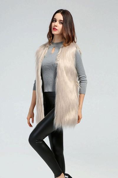 Women's Daily Fall & Winter Faux Fur Vest Coat_3