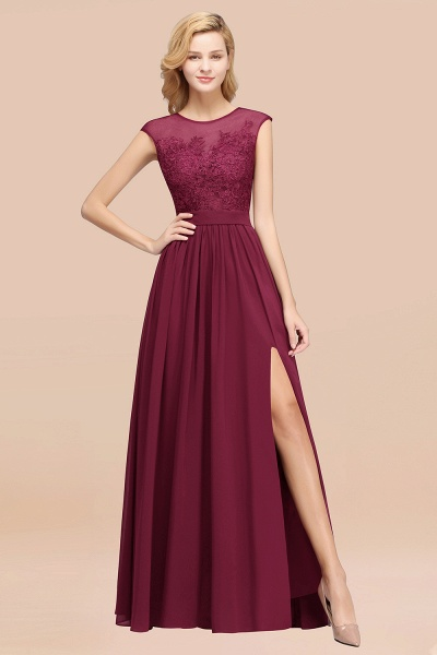 A-line Chiffon Lace Jewel Sleeveless Floor-Length Bridesmaid Dresses with Appliques_44