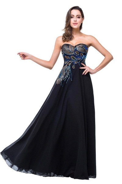 Exquisite Sweetheart Chiffon A-line Evening Dress_1