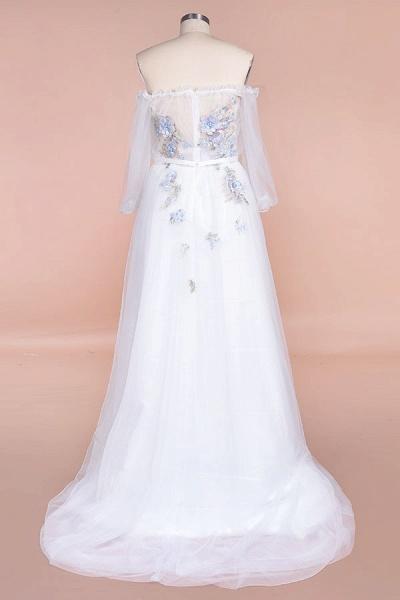 Off-the-Shoulder Appliques Tulle Wedding Dress_3