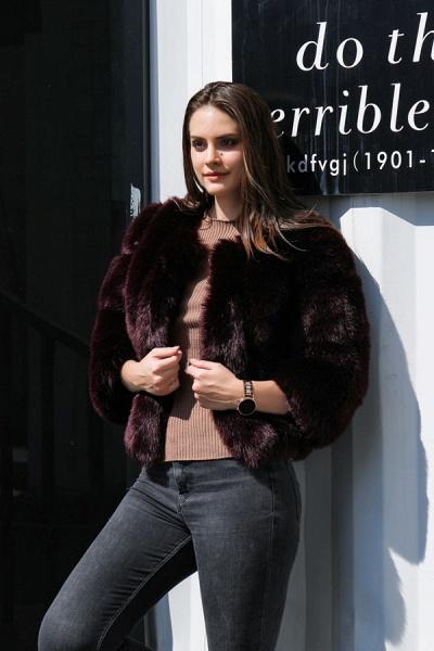 Women's Daily Basic Street Winter Faux Fur Coat_3