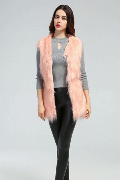 Women's Daily Fall & Winter Faux Fur Vest Coat_2