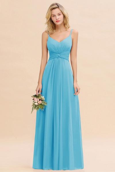 BM0762 Elegant A-line Ruffles Spaghetti Straps Bridesmaid Dress_24