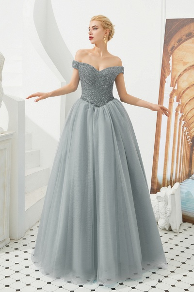 Glorious Off-the-shoulder Tulle A-line Prom Dress_3