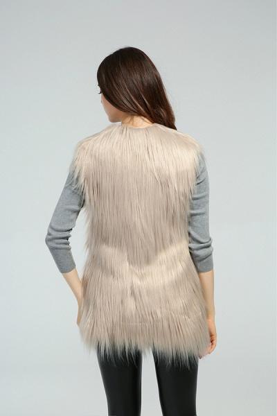 Women's Daily Fall & Winter Faux Fur Vest Coat_15