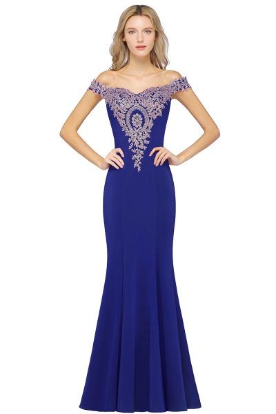 Elegant Bateau Healthy Mermaid Evening Dress_5