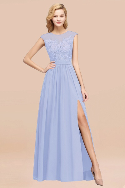 A-line Chiffon Lace Jewel Sleeveless Floor-Length Bridesmaid Dresses with Appliques_22