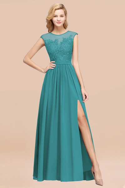 A-line Chiffon Lace Jewel Sleeveless Floor-Length Bridesmaid Dresses with Appliques_32