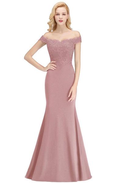 Mermaid Off-the-shoulder Long Appliques Bridesmaid Dress_1