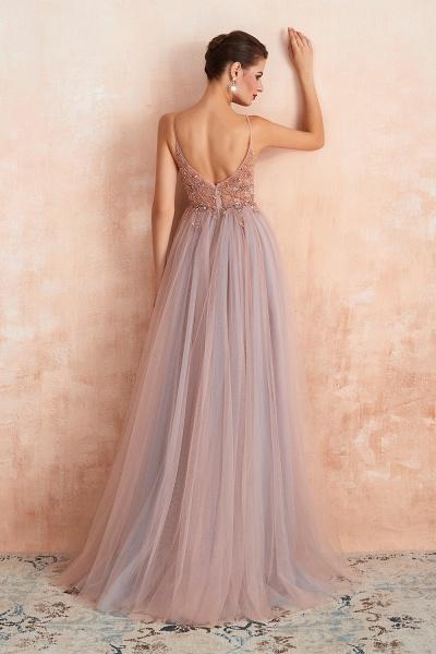 Best V-neck Tulle A-line Prom Dress_13