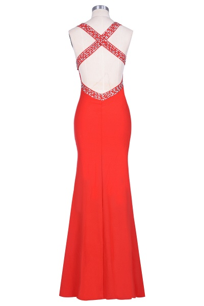 Graceful Straps Spandex Mermaid Evening Dress_6