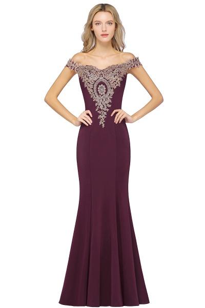 Elegant Bateau Healthy Mermaid Evening Dress_4