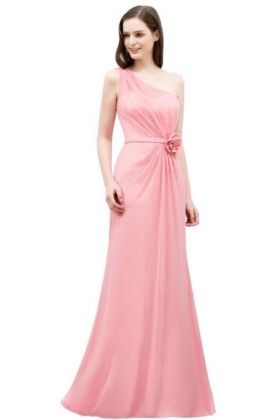 One Shoulder Mermaid Floor Length Bridesmaid Dress_1