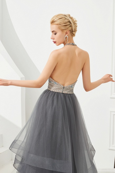 Chic Halter Tulle A-line Prom Dress_9