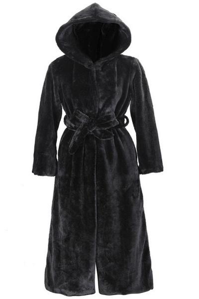 Women's Daily Street Hooded Long Faux Fur Coat_1