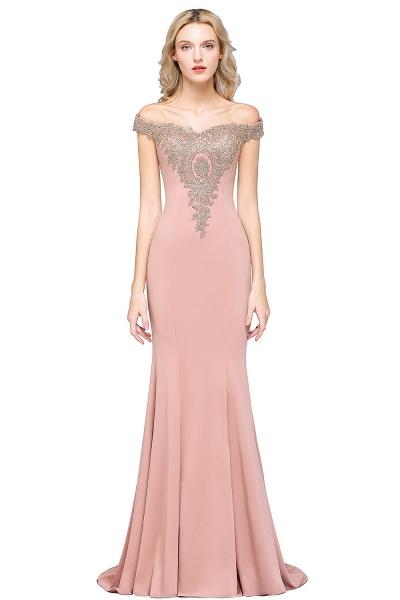 Elegant Bateau Healthy Mermaid Evening Dress_3