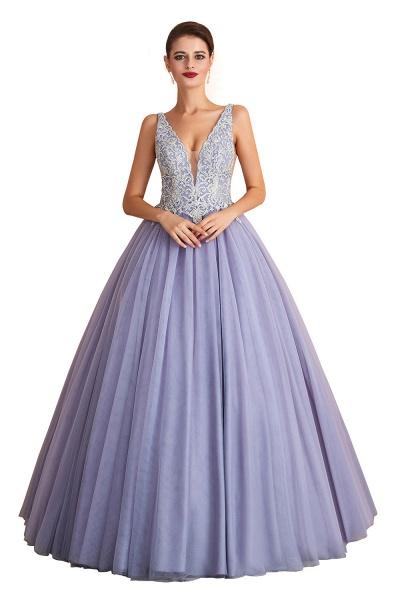 Excellent V-neck Tulle Princess Prom Dress_1