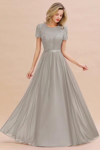 BM0831 Chiffon Lace Scoop Short Sleeve Bridesmaid Dress_30