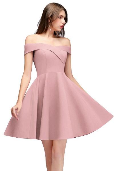 MAMIE | A-line Off-the-shoulder Short Burgundy Homecoming Dresses_1