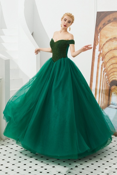 Glorious Off-the-shoulder Tulle A-line Prom Dress_19