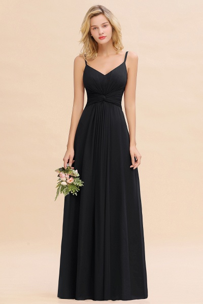 BM0762 Elegant A-line Ruffles Spaghetti Straps Bridesmaid Dress_29