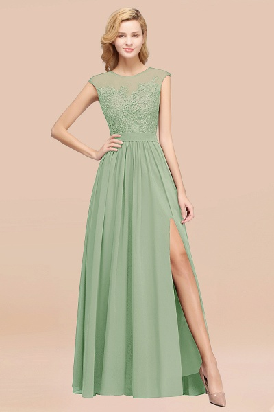 A-line Chiffon Lace Jewel Sleeveless Floor-Length Bridesmaid Dresses with Appliques_41