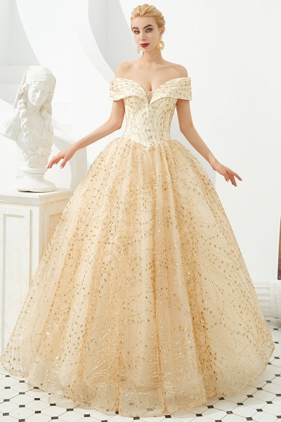 Attractive Off-the-shoulder Tulle Princess Prom Dress_2