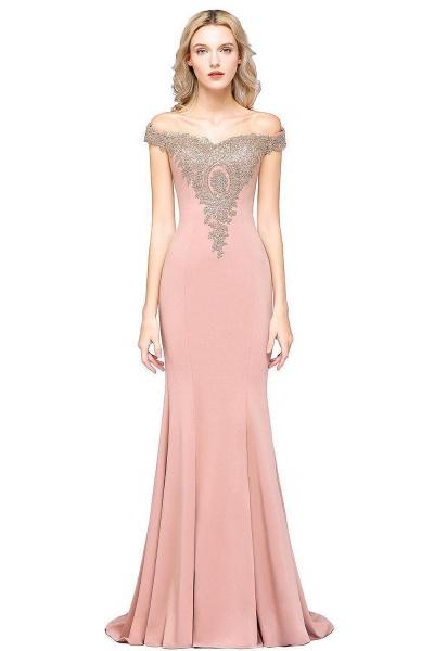 Elegant Bateau Healthy Mermaid Evening Dress_13