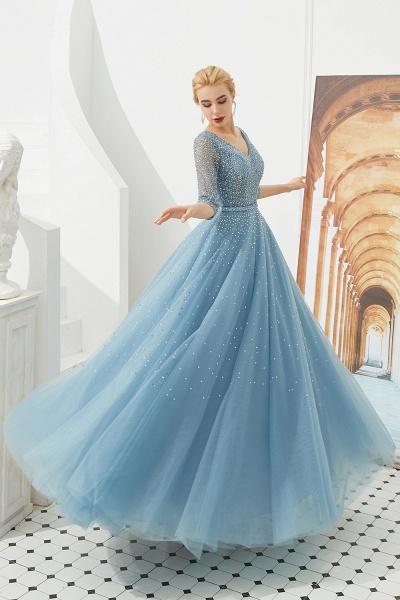 Chic V-neck Tulle A-line Prom Dress_4