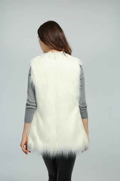 Women's Daily Fall & Winter Faux Fur Vest Coat_11