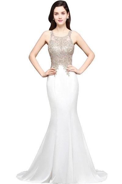 Fascinating Scoop Chiffon Mermaid Prom Dress_1
