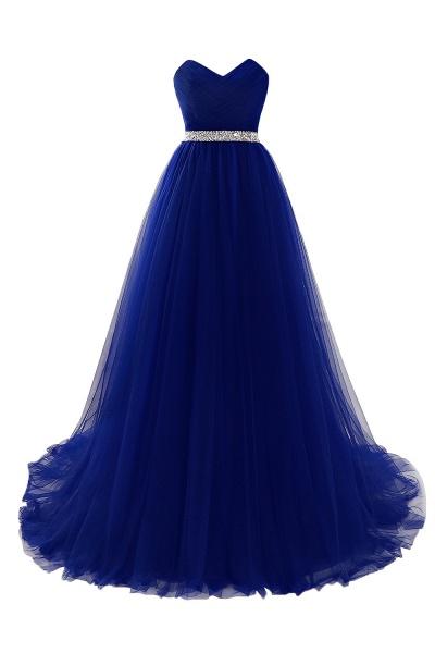 Glorious Strapless Organza A-line Evening Dress_4