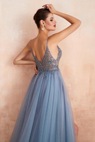 Best V-neck Tulle A-line Prom Dress_23