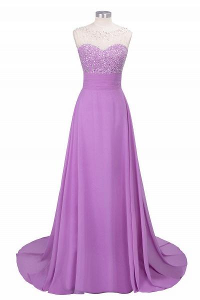 Beautiful Jewel Chiffon A-line Evening Dress_3