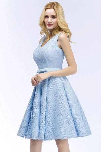 A-line Lace Knee-Length Homecoming Dress_4