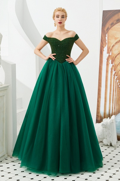 Glorious Off-the-shoulder Tulle A-line Prom Dress_6