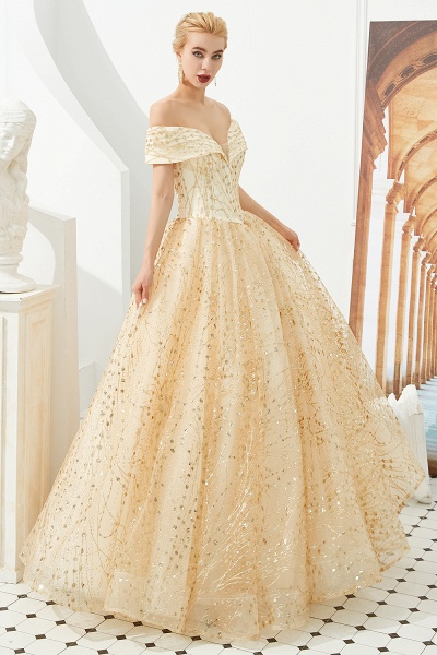 Attractive Off-the-shoulder Tulle Princess Prom Dress_7