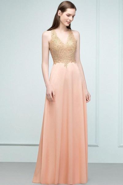 Excellent V-neck Chiffon A-line Evening Dress_1