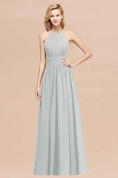 A-line Chiffon Appliques Halter Sleeveless Floor-Length Bridesmaid Dresses with Ruffles_38