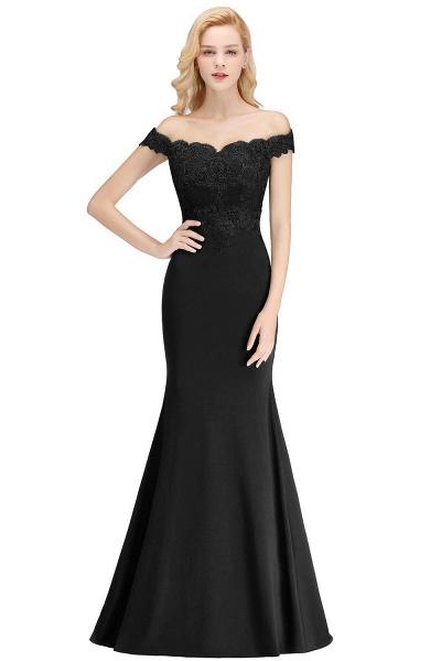 Mermaid Off-the-shoulder Long Appliques Bridesmaid Dress_7