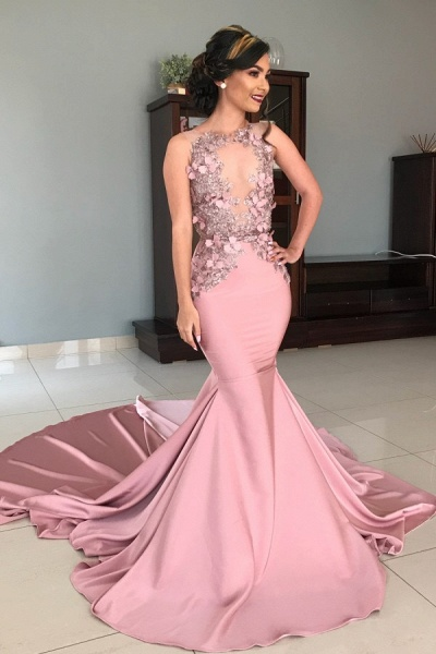 Graceful Straps Stretch Satin Ball Gown Prom Dress
